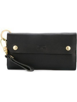 As2ov Oiled shrink long wallet - Black