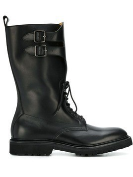 Holland & Holland buckle boots - Black