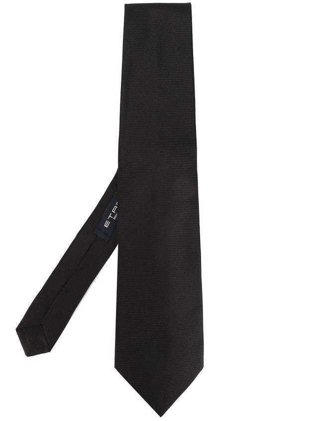Etro pointed tip tie - Black
