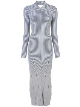 Dion Lee striped knitted dress - Blue