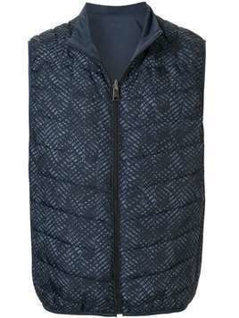 D'urban quilted gilet - Blue