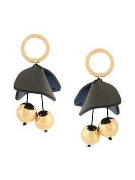 Marni floral drop earrings - Blue