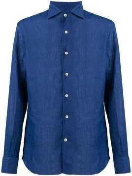 Alessandro Gherardi pointed collar shirt - Blue