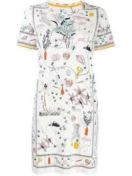 Tory Burch printed T-shirt dress - White