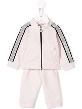 Moncler Kids striped-trim tracksuit - PINK