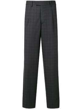 Gieves & Hawkes check pattern tailored trousers - Grey