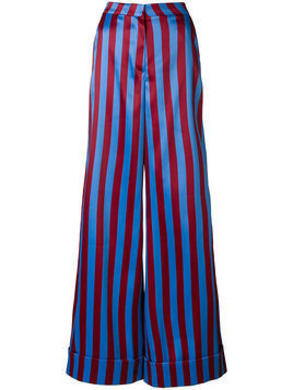 Self-Portrait striped palazzo trousers - Multicolour