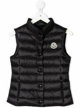 Moncler Enfant logo-patch padded gilet - Black