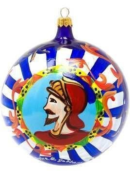 Dolce & Gabbana painted Christmas bauble with Knight - Multicolour