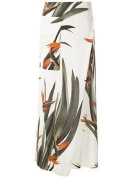 Osklen Wrap Strelitzia wide leg trousers - Multicolour
