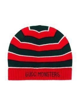 Gucci Kids Gucci Monsters knitted beanie - Red