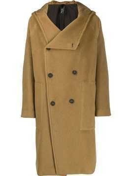 Hevo Salve hooded double-breasted coat - Neutrals