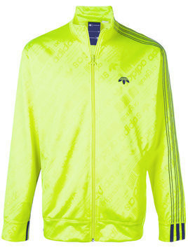 Adidas Originals By Alexander Wang - Zipped track jacket - Herren - Polyester/Spandex/Elastane - XXS - Yellow & Orange