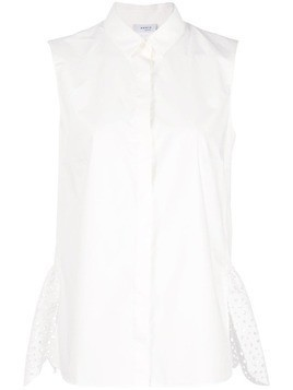 Akris Punto asymmetric hem sleeveless shirt - White