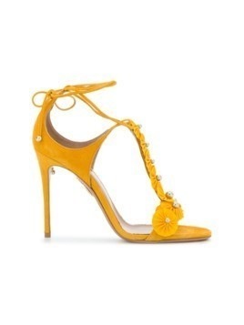 Aquazzura T-bar open toe sandals - Yellow&Orange