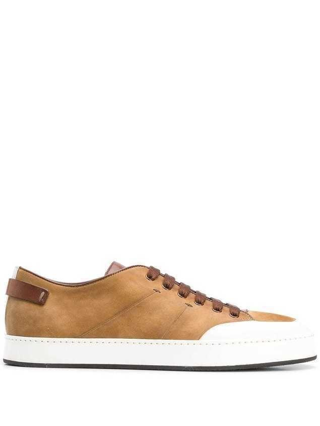 Santoni lace-up sneakers - Brown