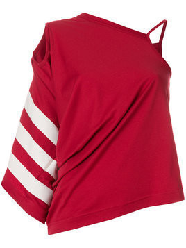 Y-3 asymmetrical design top - Red
