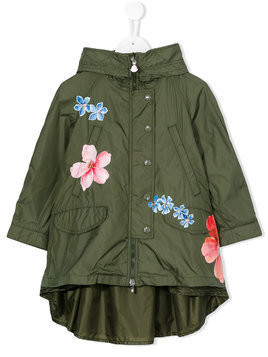 Moncler Kids floral print jacket - Green