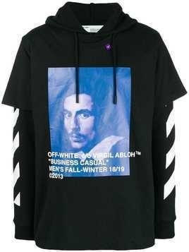 Off-White Bernini print hoodie - Black