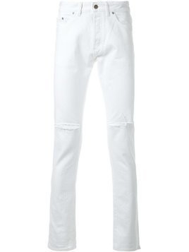 Hl Heddie Lovu distressed slim-fit jeans - White
