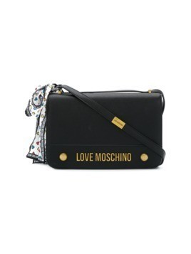 Love Moschino logo shoulder bag - Black