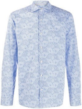 Al Duca D'Aosta 1902 floral print button-up shirt - Blue
