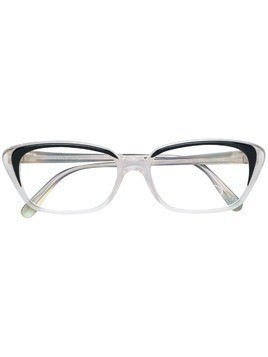 Fendi Pre-Owned clear cat-eye glasses - Black