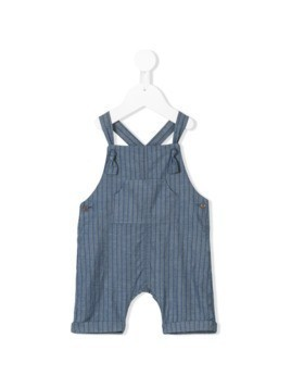 Message In The Bottle striped denim dungarees - Blue