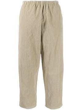 Apuntob cropped corduroy trousers - NEUTRALS