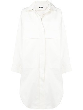 Jil Sander Navy oversized shirt jacket - White