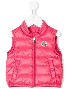 Moncler Kids Amaury padded vest - Pink & Purple