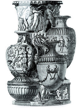 Fornasetti ancient vase umbrella stand - Grey