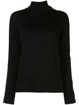 Akris Punto press-stud mock-neck jumper - Black