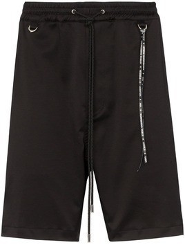 Mastermind Japan skull embroidered shorts - Black