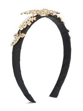 David Charles Kids butterfly embellished headband - Black