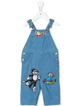 Stella Mccartney Kids Dandy patches dungarees - Blue