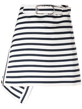 Carven striped A-line skirt - White