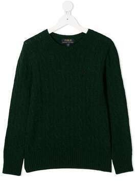 Ralph Lauren Kids cable knit jumper - Green