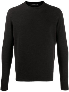 Lamberto Losani colour block jumper - Black