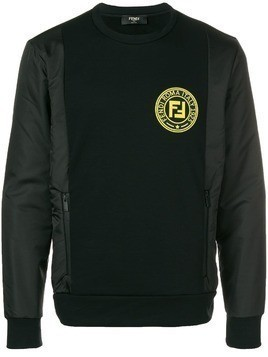 Fendi logo print sweatshirt - Black