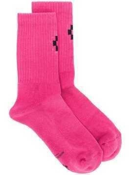 Marcelo Burlon County Of Milan logo socks - Pink & Purple