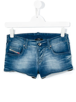 Diesel Kids stretch denim shorts - Blue