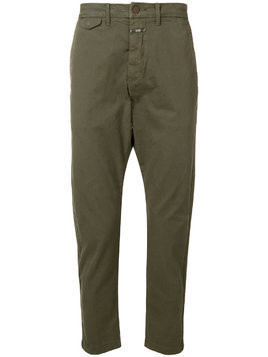 Closed straight-leg trousers - Green