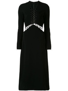 Dion Lee lace-up midi dress - Black