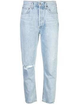Agolde distressed straight leg jeans - Blue