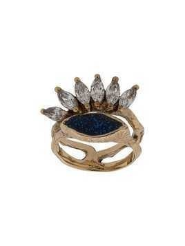 Voodoo Jewels stack branch ring - Blue