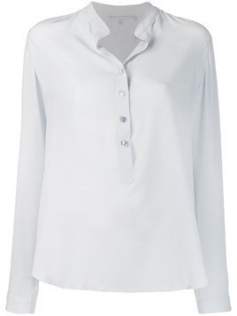 Stella McCartney band collar blouse - Blue