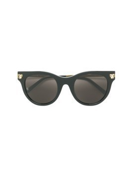 Cartier round frame panther sunglasses - Black