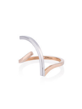 Kova - Rose and White Gold R.02.11 Ring - Damen - 18kt Gold - 51 - Metallic