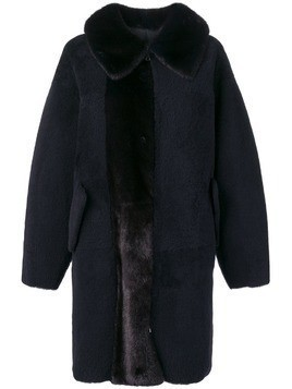 Blancha panel oversized coat - Blue